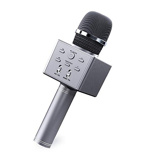 Wireless Bluetooth Karaoke Microphone, 4 in 1 Portable Handheld Karaoke Mic Speaker Recorder, Kids Singing Microphone Toy with Voice Changer for Teen Girls Boys Children Birthday Party