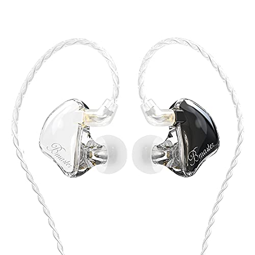 in-Ear Monitors, BASN Bmaster Triple Driver HiFi Stereo Noise-Isolating with Enhanced Bass for Musicians Stage/Audio Recording(PRO White/Black)