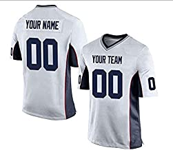 Zhijiagelily NFL Football Jerseys for menCustom Jersey, Teams White Jerseys Personalized Any Name and Number Jerseys for Unisex,