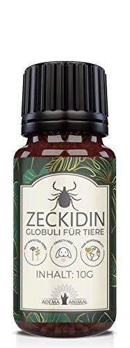 NEU: Adema Animal® Zeckidin Globuli - Zeckenschutz für Tiere - für Hunde & Katzen gegen Zecken - 30g Inhalt