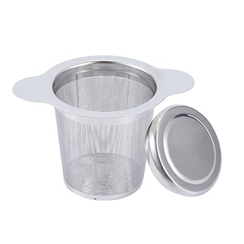HANHAN 304 Stainless Steel Tea Infuser Tea Infuser with Tea Strainer Extra Fine Suitable for Most Cups