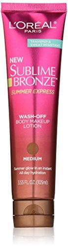 L'Oréal Paris Sublime Bronze Summer Express Body Makeup Lotion, Medium, 3.55 fl. oz.