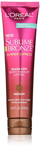 L'Oréal Paris Sublime Bronze Summer Express Body Makeup Lotion, Medium, 3.55 fl. oz.