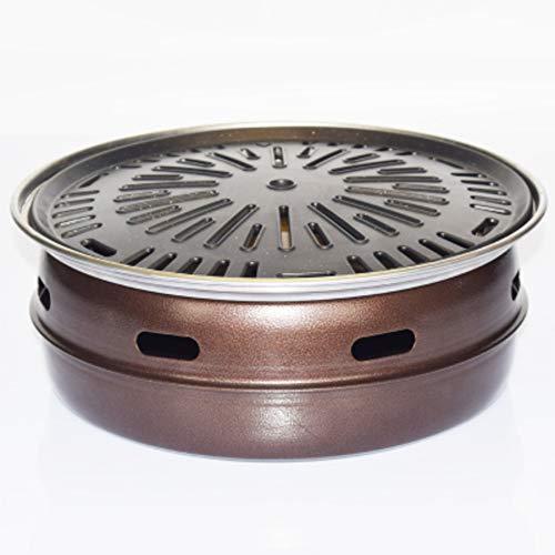 DQM Art Carbon-Ofen, Holzkohle-Grillofen, Edelstahl-Retro-Lack mit großem Fassungsvermögen, Gusseisen-Grilltopf, bestes Grillwerkzeug