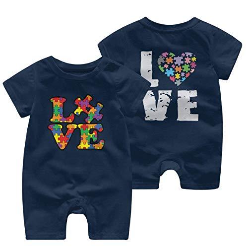 RROOT Liefde Puzzels Autisme Bewustzijn Peuter Baby Korte Mouw Bodysuit Kid Pyjama 0-24 Maanden