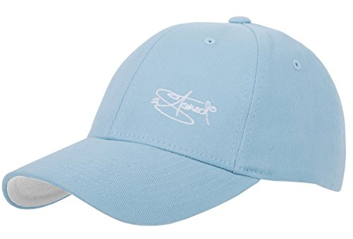 2Stoned Flexfit Cap Wooly Combed Carolina Blue mit Stick, Kindergröße Youth (53 cm - 55 cm), Basecap für Kinder
