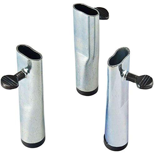 Vaello la Valencienne 3 Mini Pieds Jambes, en Acier, Argent, 30 x 30 x 30 cm