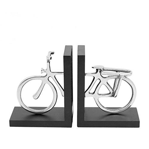 COTE TABLE Serre Livres vélo Aluminium chromé 8x18cm
