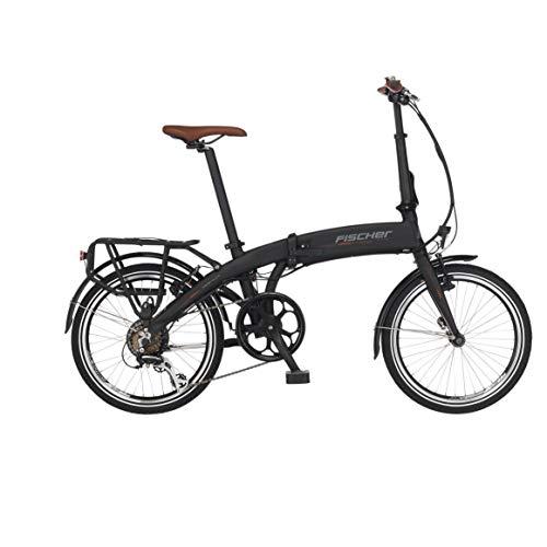 Fischer Bicicleta eléctrica para Adultos 62379, Color Negro Mate, Marco = 30 cm