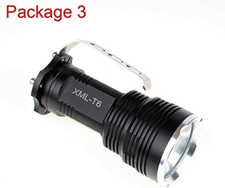 3 LED-Taschenlampe, 5 Modi, dimmbar, CREE CREE CREE XM-L T6 Blendlicht, robustes Aluminium-Legierung, großes Batteriefach B07DJ9N25L  Neuankömmling 63a2cc