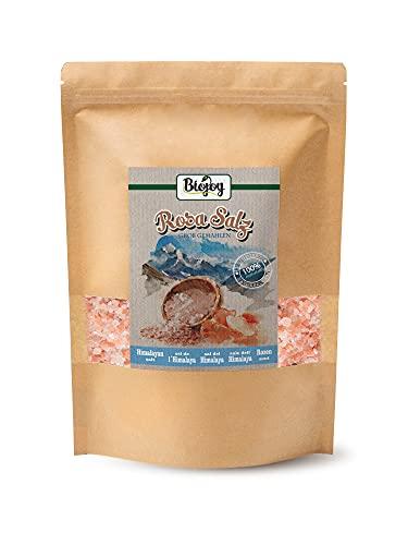 Biojoy Cristales de Sal Rosa del Himalaya, sal cristalina 2-5mm para molino de sal (2 kg)