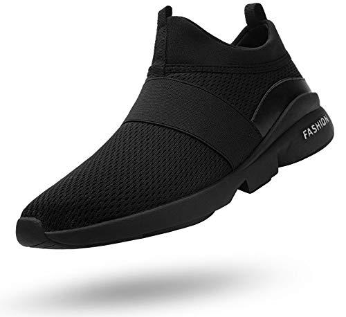 Ziboyue Sicherheitsschuhe Herren Damen Arbeitsschuhe Leicht Sportlich Atmungsaktiv Schutzschuhe Stahlkappe Sneaker(Super Schwarz,41 EU)