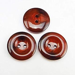 TMYQM 5 قطع 30 مم زر زينة مصبوغ الراتنج أزرار الملابس جزمة الخياطة ملحقات الملابس R-327 (اللون : برتقالي)