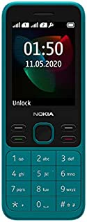 "Nokia 150 (2020) Feature Phone, Dual SIM, 2.4"" Display, Camera, FM Radio, MP3 Player, expandable MicroSD up to 32GB - Cyan"