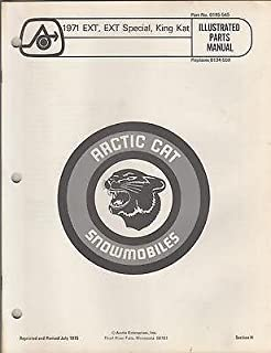 1971 Arctic Cat Snowmobile Ext, Ext Special King Kat Parts Manual(265)