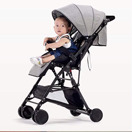 JYXJJKK Baby Stroller Ultra-light Folding Simple Summer Breathable Four Seasons General-purpose Car Can Sit And Lie Down High Landscape Baby Stroller (Color : B)