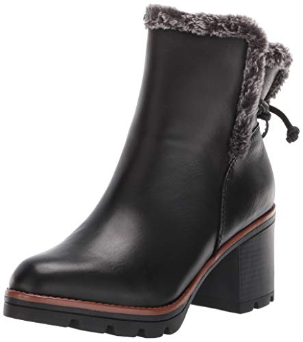 Naturalizer Women's Valene Booties Ankle Boot, Black Leather, 9