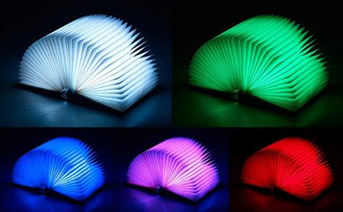 Lunartec Buchlampe: Klappbare LED-Stimmungsleuchte im Buch-Design, 5 Farben, 0,2 Watt (Buchleuchte) - 8