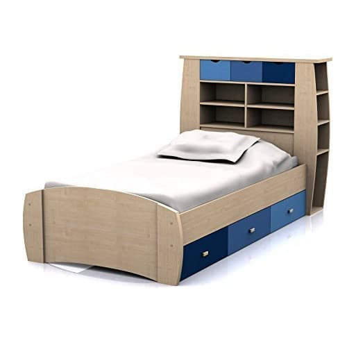Boys storage bed Modern Sydney 3ft Cabin Bed With Drawers Large Storage Headboard With Shelves And Drawers Amazon Uk Boys Storage Beds Amazoncouk