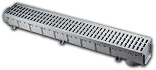 NDS 864G 5-Inch Pro Series Channel Drain, Grey