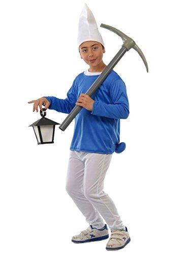 Guirca- Costume da Puffo 7/9 Anni, Colore Azzurro, 81555