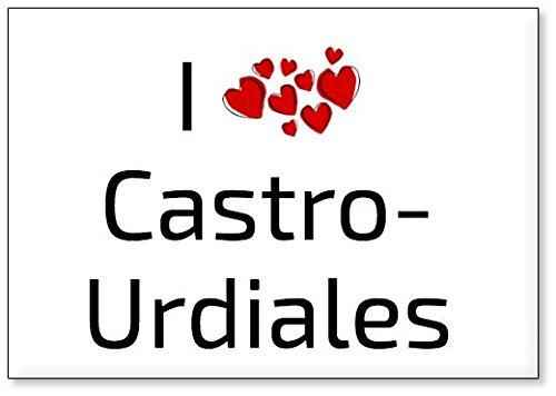 Mundus Souvenirs - Amo Castro-Urdiales, Imán para Nevera (diseño 1)