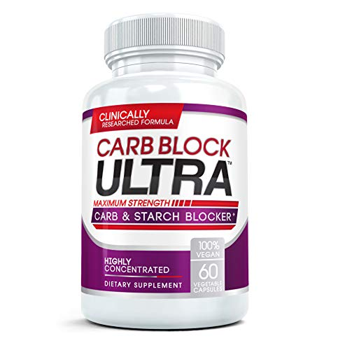 Carb Block Ultra - Natural Carb Blocker for Diet & Weight Loss, Stim-Free Appetite Control, Blood Sugar Support, Block Starch Absorption | 100% Pure White Kidney Bean Extract, 60 Veggie Caps