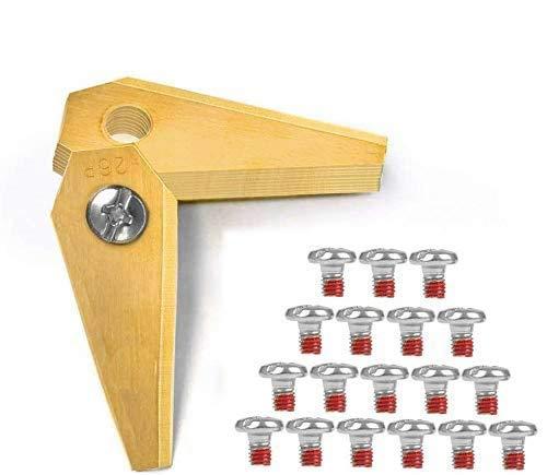 18x Titan Ersatzmesser Hochwertige Klingen für Bosch Indego, passend für alle Indego - 800, 1000 1200, 350, 400 und 450, einschl. Connect