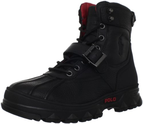 Hot Sale Polo Ralph Lauren Men's Huntswood Boot,Black/Black,8 D US