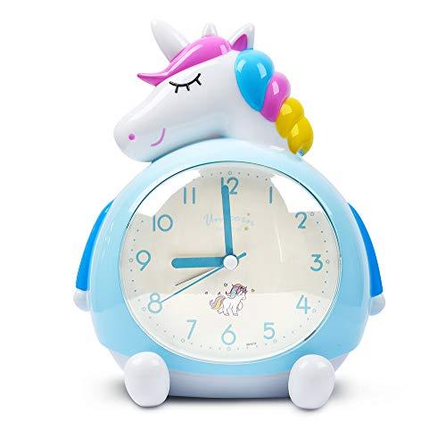 Minvo Eenhoorn-wekker voor kinderen, s nachts met luide muziek-wekker wakker worden, ideaal geschenk voor kinderen feestaccessoires, slaapkamerdecoratie