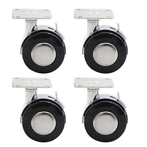 JSONA Ruedas giratorias, Ruedas para Muebles con Placa de Montaje Superior de 360 Grados Ruedas para Muebles de 50 mm, Capacidad de Carga 200 kg (Paquete de 4)