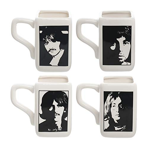 The Beatles White Album Square 4pc. 12 oz. Ceramic Mug Set