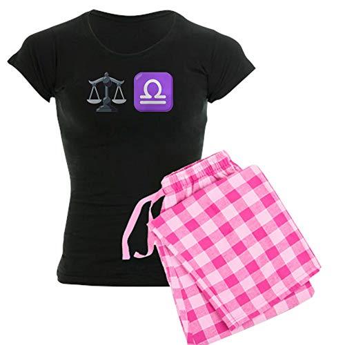CafePress Damen Schlafanzug Emoji Waage Gr. 46, Mit rosa Hose.