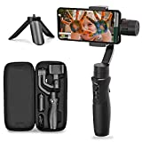 Hohem 3-Axis Gimbal Stabilizer for Smartphone iSteady Mobile Plus Gimbal Handheld with Vlog Youtuber Live Video Record Face Object Tracking Motion Time-Lapse for iPhone 12/11 /Samsung/Huawei and More