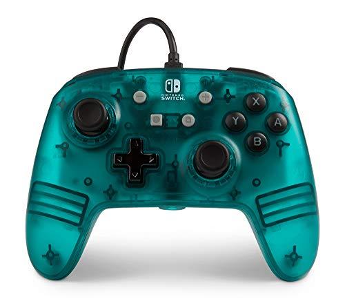 PowerA Verbesserter Kabelgebundener -Controller für Nintendo Switch – Eis-Blaugrün Frost