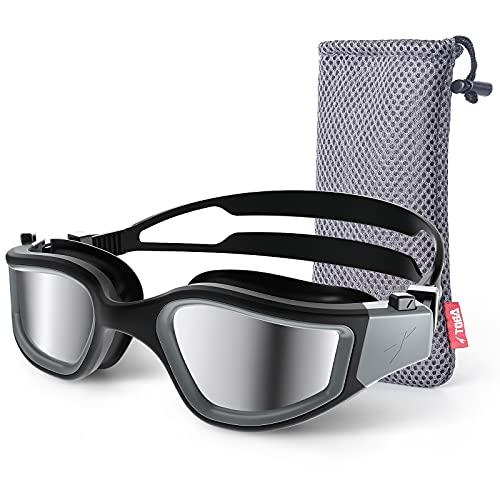 TOBA Swim Goggles, Polarized Anti-fog UV Protection Swimming goggles for Men Women Adult Youth