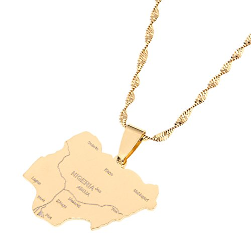 Nigeria Map Pendant Necklaces Country Maps Africa Nigerians Maps Jewelry