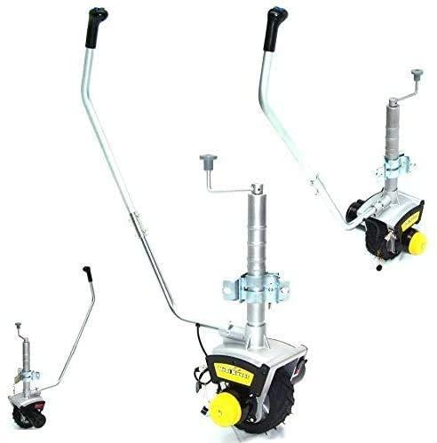 D+L Rueda de apoyo eléctrica para remolque, 12 V,...