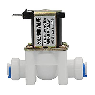 """DIGITEN 24V 1/4"""" Inlet Feed Water Solenoid Valve for RO Reverse Osmosis Pure System from DIGITEN"""