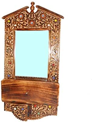 The Hanger Wooden Branded Antique Decorative Mirror and Bracket Frame