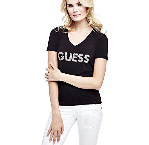 Guess W72I05J1300, T-Shirt Donna, Nero (Jet Black W/ Frost G), 36 - 38 (Taglia Produttore: S)