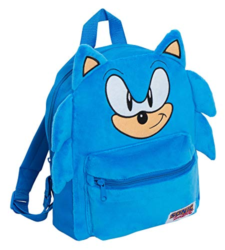 Mochila oficial Sonic The Hedgehog 3D de felpa para niños y niñas Sega School Book Lunch Sports Travel Bag Mochila