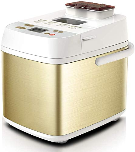 Automatic Multifunction Bread Making Machine, Home Smart Fruit Sprinkled Electric Cake Toaster Yogurt Bread Maker LED Toching Screen (Color : -, Size : -)