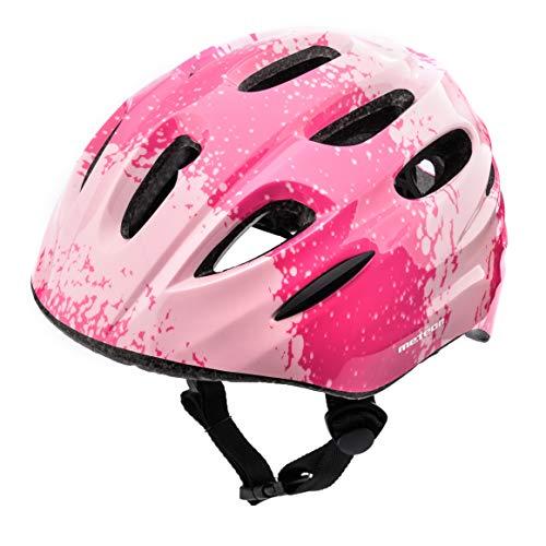 Meteor Casco Bici Ideale per Bambini Caschi Perfetto per Downhill Enduro Ciclismo MTB Scooter Helmet Ideale per Tutte Le Forme di attività in Bicicletta Helmo KS01 (XS 44-48 cm, Gradient Pink)