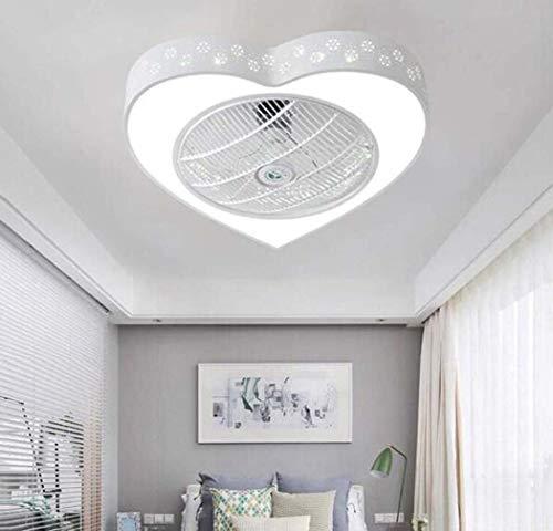 Ventilador de techo LED con función de iluminación y función de control remoto Ventilador silencioso Candelabro LED Iluminación del dormitorio Sala de estudio Iluminación de atenuación Luz de techo,A