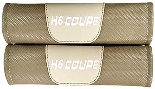 YYYYDS 2 Piezas Almohadillas CinturóN Seguridad para Haval H6 Coupe,Fibra Carbono CinturóN Seguridad Almohadillas,Almohadilla Hombro del CinturóN Seguridad con Logo,Coche Accesorios