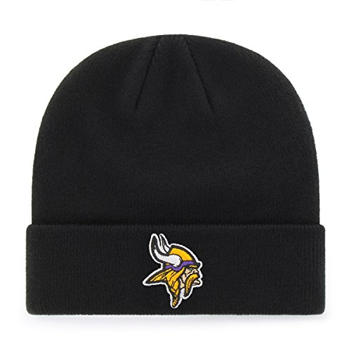 OTS NFL Minnesota Vikings Youth Raised Cuff Knit Cap, Team Color, Youth