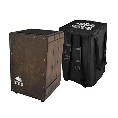 Echoslap Vintage Crate Cajon -Vintage Dark, Hand Crafted, Siam Oak Body review