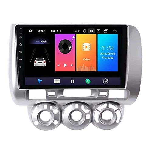 9 pollici Android 8,1 doppio DIN per autoradio GPS Honda Fit Jazz 2004 – 2007, FM/RDS/Bluetooth/musica/video/comandi al volante
