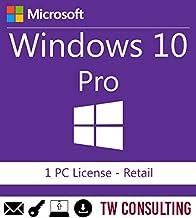 Windows 10 Professional Retail 1PC | Entrega electrónica de software Descarga versión completa de 32 y 64 bits + instrucci...